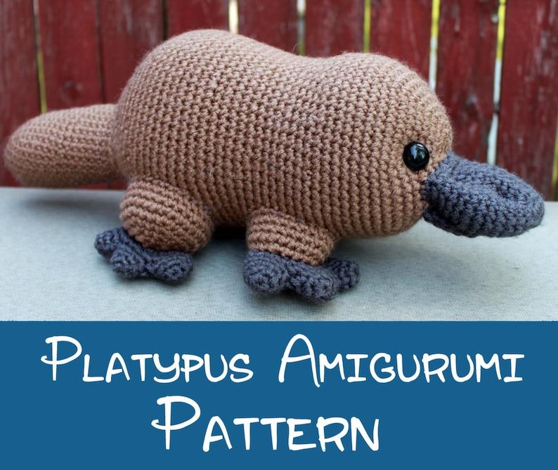 Crochet Pattern: Platypus Amigurumi PDF Instant Download image 0