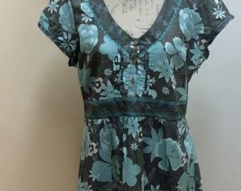 Pretty knee length cotton summer dress