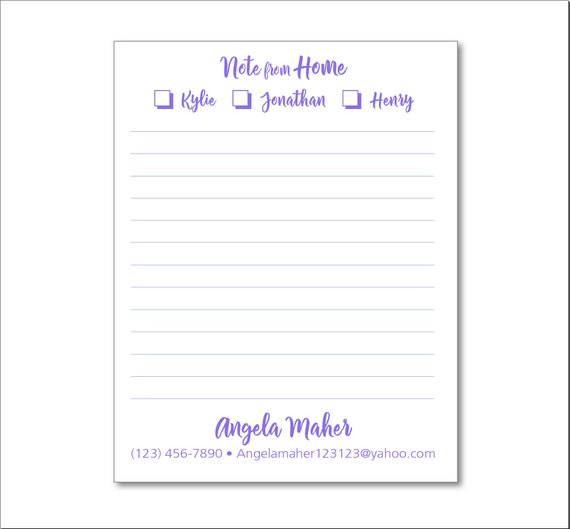 Daycare Notes 2 Personalized Notepads