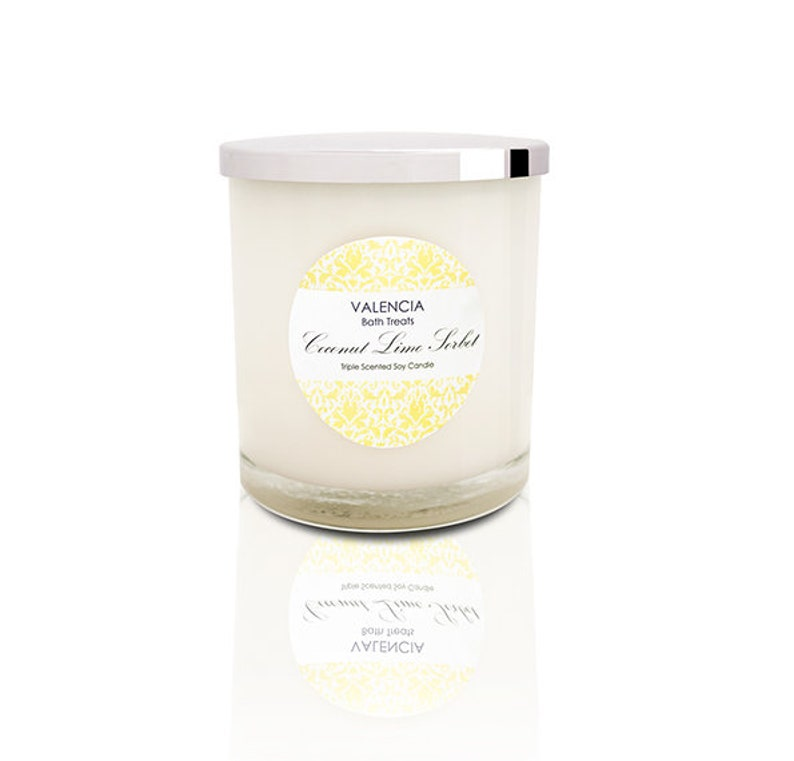 Coconut Lime Sorbet Soy Candle  Large image 0
