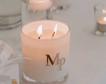 Large Custom Candle - FREE SHIPPING - Gold or Silver Vinyl