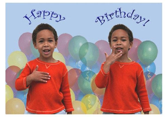 Happy Birthday Im Asl Junge Grußkarte Etsy