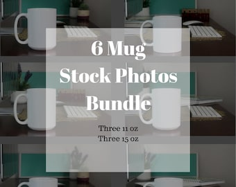 Stock Photo Bundle - Coffee Mug Photo - Styled Stock Photography - Social Media Images - Mug Styled Stock - Stock Product Photo