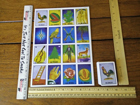 54 Mini Loteria Tarot Cards Deck Or 10 Game Boards Diy Mexican Etsy
