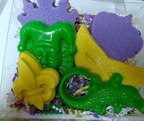 Mardi Gras Soap Set New Orleans Theme Birthday Parties