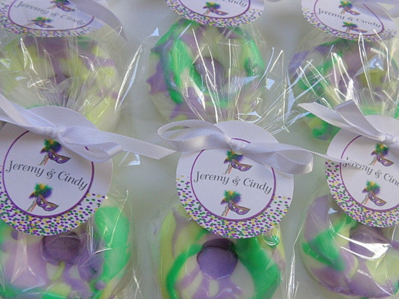 10 King Cake Donut Favors Party Soap Fat Tuesday