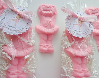 10 Ballerina Soap Favors, Birthdays, Dance Recital, Special Occasions, Ballerinas