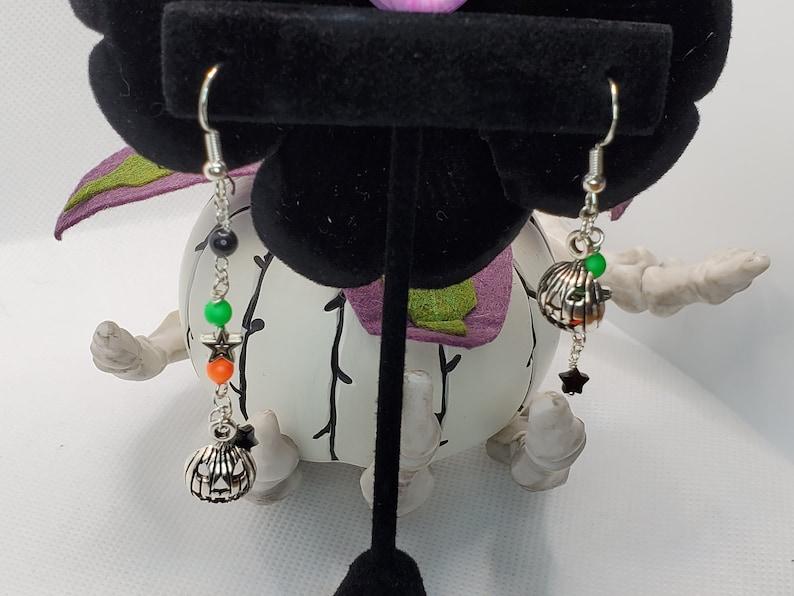 HALLOWEEN Jack-o-Lantern Non-Matching Earrings