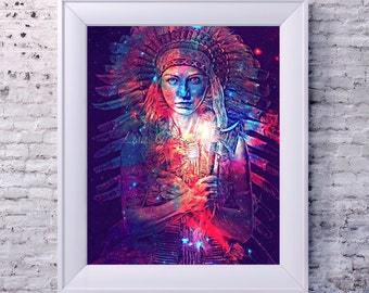 Cosmic Native 8 x 10 print Instant Digital Download
