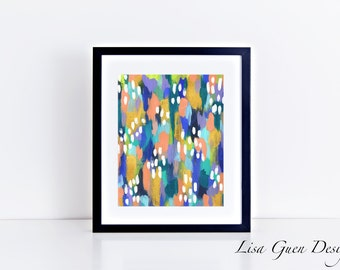 Jules Abstract Acrylic Painting 8 x 10 inch Print Digital Download Printable