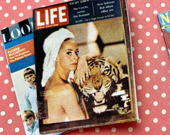 Vintage Look, Life, The New Yorker, Time  Magazines for Barbie