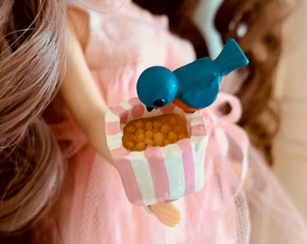 Miniature Bird and seed Barbie, Blythe & Skipper Size