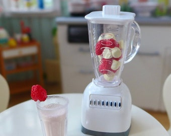 Healthy Fruit Smoothies 1:6 Scale Blender & Strawberry Smoothie