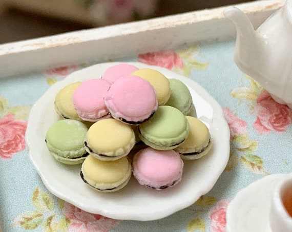 Plate of Macaroon's by Betsy Niederer