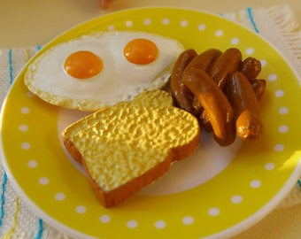 Barbie & Ken Egg Sausage Toast Breakfast 6th Scale