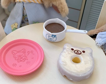 Rilakkuma Bear Cake Hot Choclate