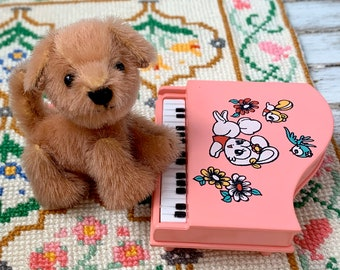 Handmade 3 way Jointed Puppy & Piano