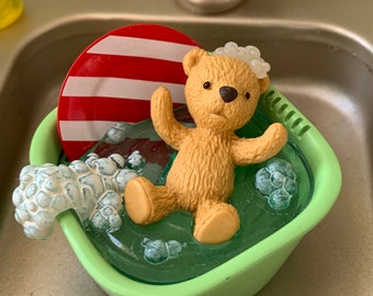 Teddy Bear Bath Time Barbie Blythe Size 1:6 Scale