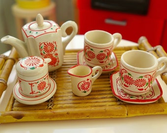 Asian Tableware 6th Scale Floral Tea Set