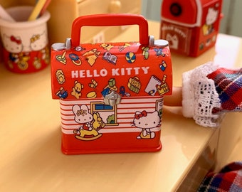 Hello Kitty Lunch Box Vintage Sanrio 6th Scale Skipper Size
