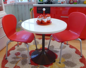 Retro Red Kitchen Table & Chairs