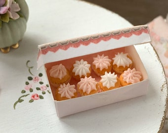 Box of Pink Cupcakes by Betsy Niederer