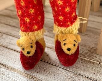 Blythe & Skipper Size Winnie the Pooh Bear Slippers