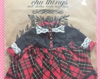 Black & Red Plaid Lace Dress Chu Things