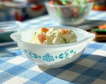 Potato Salad & Small Pyrex Bowl