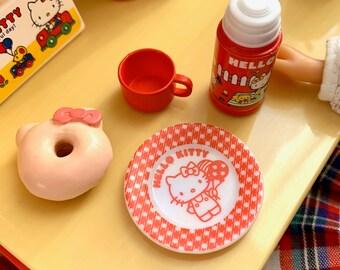 Hello Kitty Thermos & Donut Treat  6th Scale Skipper Size Diorama