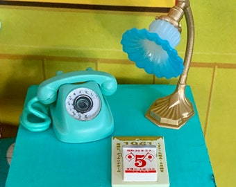 Telephone Table Miniature's Barbie Size