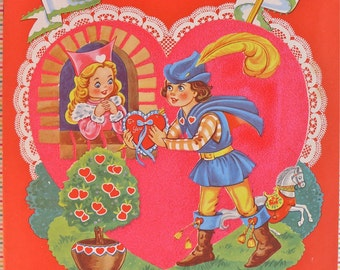 Vintage Flocked Valentine's Mint Unused Uncut 1950