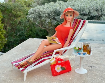 Vintage Barbie in the Swim Orange Version  Fine Art Photograph
