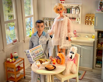 Barbie & Ken Pancake Breakfast 6th Scale Syrup, Butter, Spatula, Pan