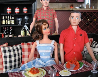 Barbie & Ken Lobster Oysters in the Half Shell Dinner 6th Scale