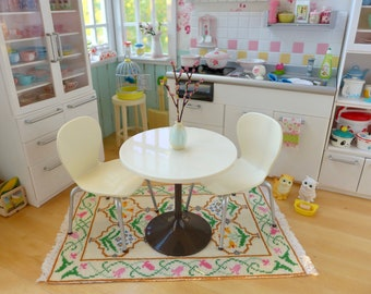 Rement White Kitchen Table, Chairs & Cherry Blossoms