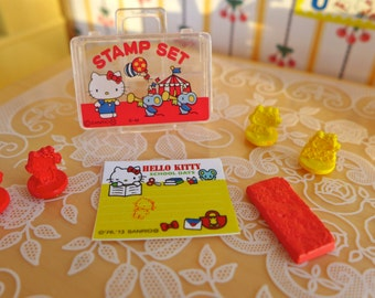 Hello Kitty Miniature Stamp set Blythe & Barbie size