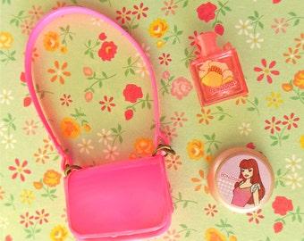 Vintage Francie Skipper Blythe Pink Shoulder Strap Purse