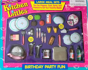 Kitchen Littles Birthday Party Fun Barbie Size 6th Scale Doll Food
