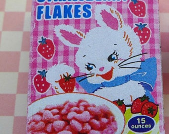 Flirty Pink Bunny Cereal box 1:6 Scale