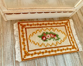 Handmade Dollhouse Miniature Rug 12th Scale