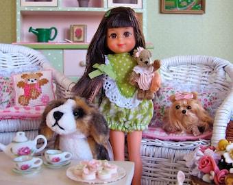 Blythe Barbie Vintage Flowered Cabinet