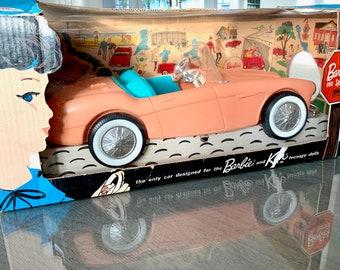 Vintage Barbie Mattel 1962 Irwin Austin Healey Convertible In Box