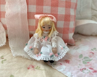 Tiny Porcelain Blond Haired Dolly