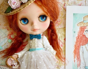 Nerea Pozo Custom Blythe Doll Momo