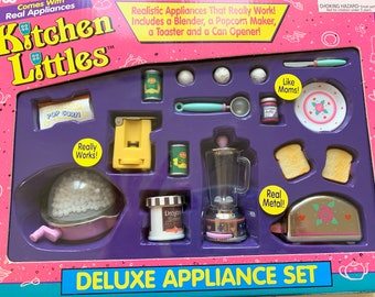 Kitchen Littles Deluxe Appliance Set by Tyco 6th Scale Barbie Size