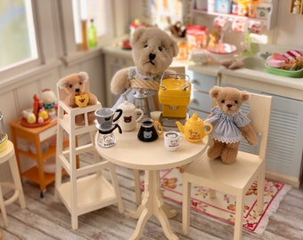 Miniature Bear Coffee Pot, Carafe, Espresso Machine 6th Scale Barbie Blythe Size