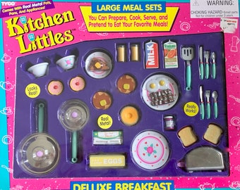 Kitchen Littles Deluxe Breakfast by Tyco Barbie Size 6th Scale