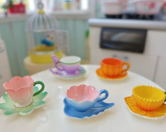 Fairy Tale Tea Cups 6th Scale Barbie Kitchen Size