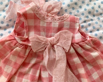 Henriette Jardin Pink Gingham Dress